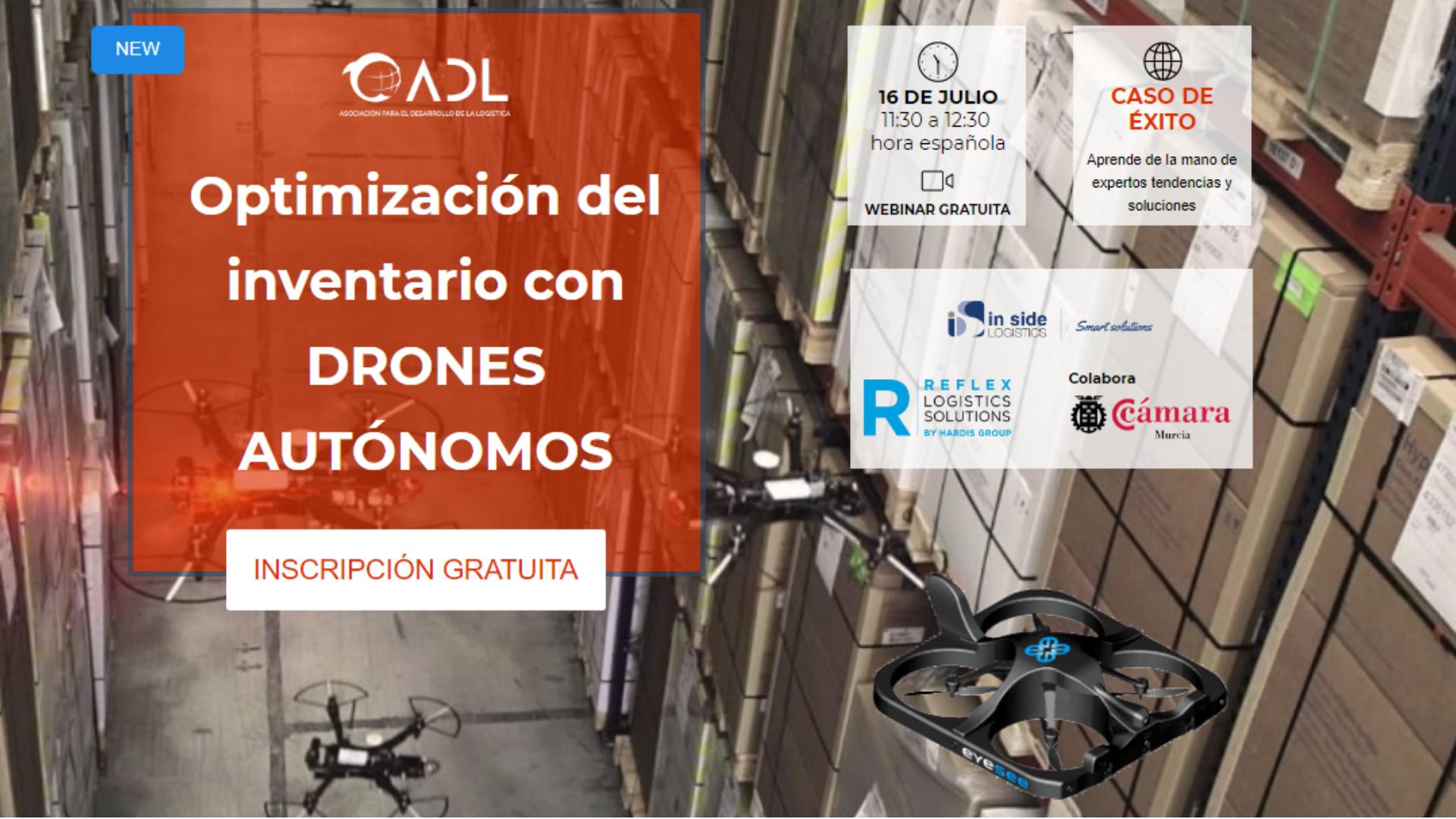 Seminario web gratuito Optimización del inventario con DRONES AUTÓNOMOS