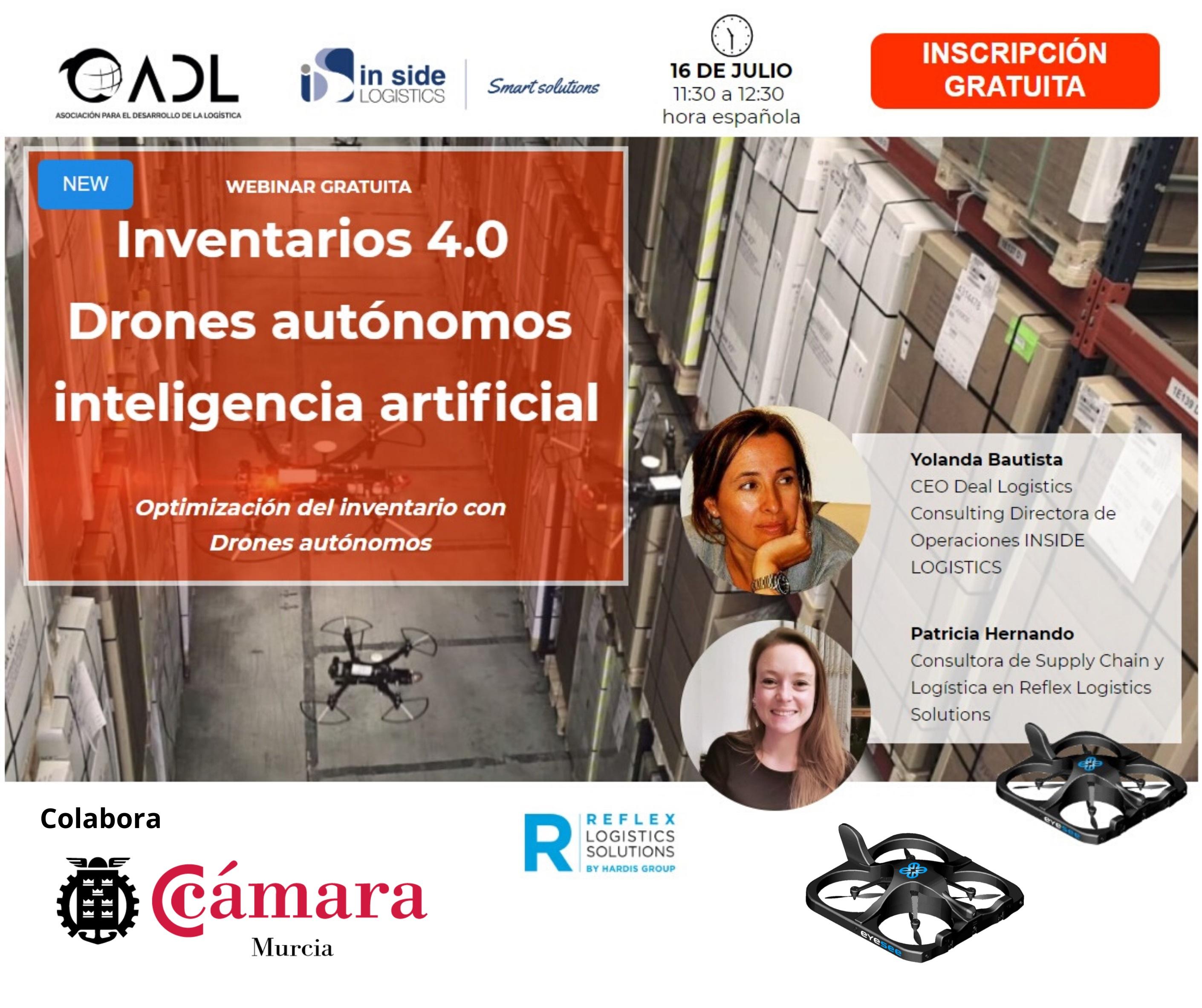 Webinar INVENTARIOS 4.0. con DRONES autónomos COLABORA CÁMARA MURCIA
