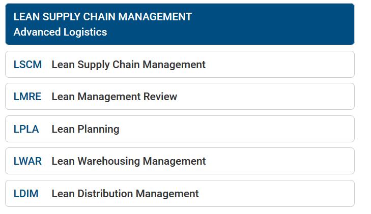 certificado Lean Supply Chain Management - Cámara de Comercio de Murcia