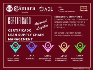 Certificado Lean Supply Chain Management - Cámara Comercio Murcia