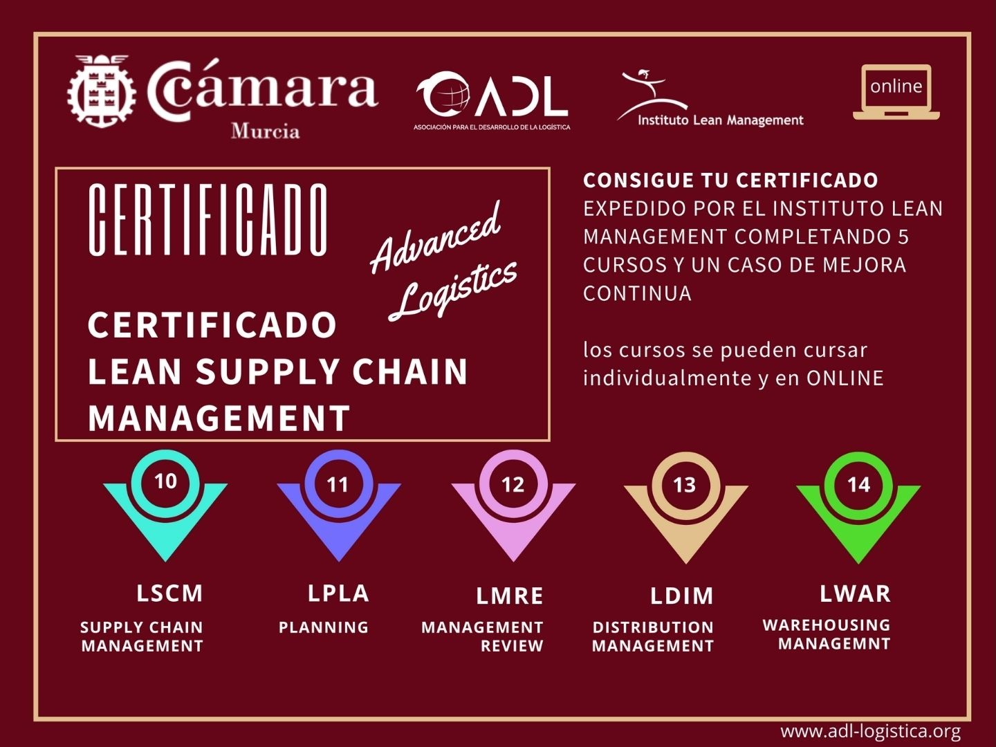 Certificado Lean Supply Chain Management - Cámara Comercio Murcia