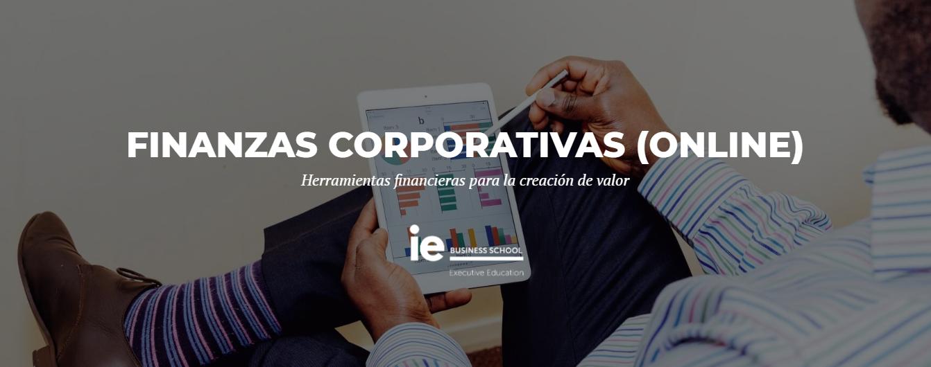 Programa Ejecutivo Finanzas Corporativa IE - Banner de IE