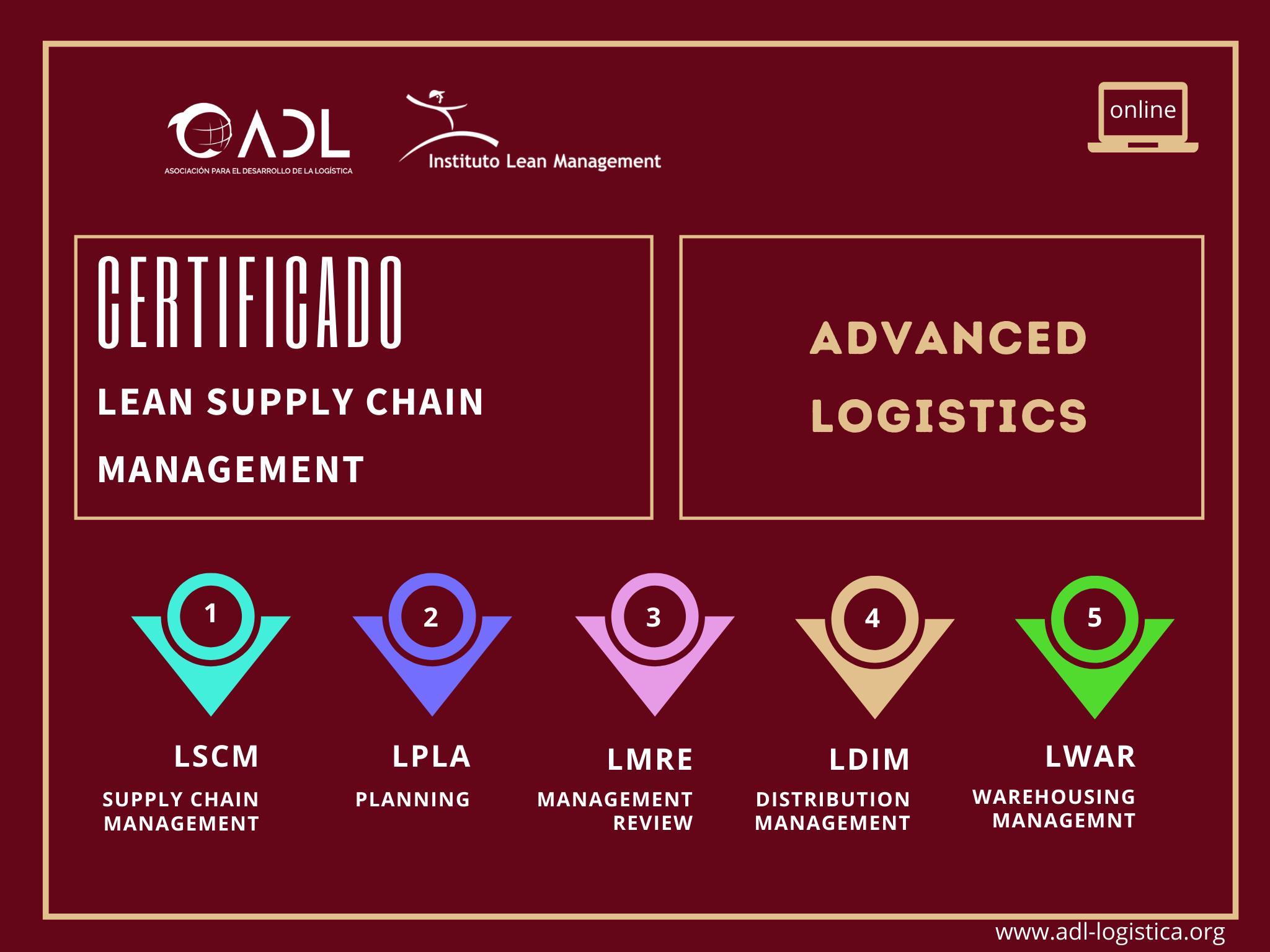 Certificado Lean Supply Chain Management Advanzado Logistica   Cámara de Comercio de Murcia   ADL Logística