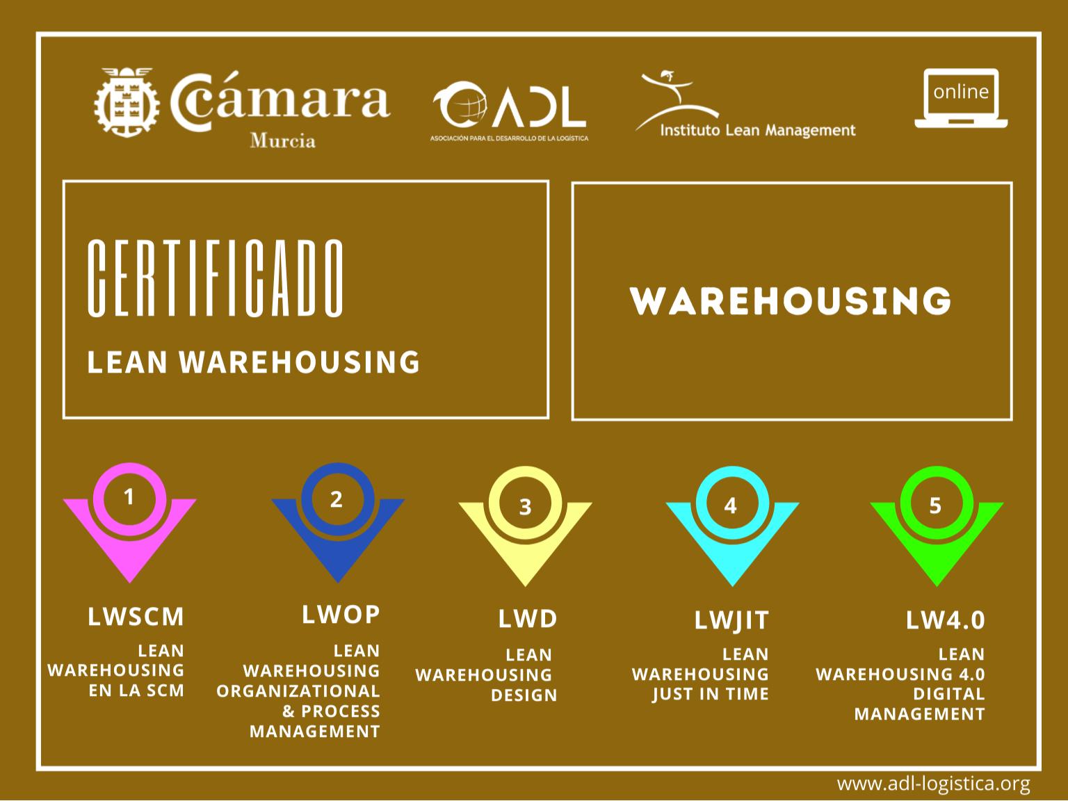 Certificado Lean Warehousing - Cámara de Comercio Murcia